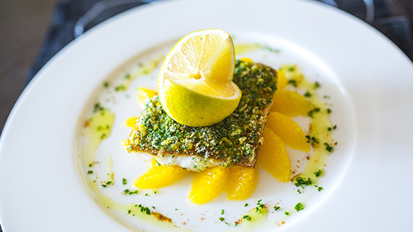 Pan Seared Nile Perch With A Citrus Crust